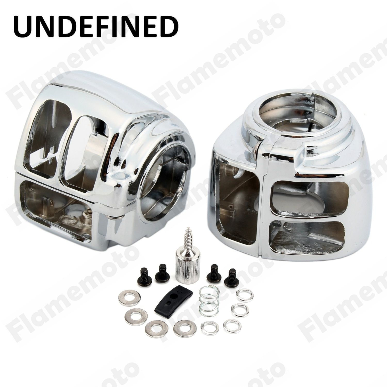 Motorcycle Bike Parts Chrome Handlebar Switch Housing Cover For Harley Sportster Iron 883 1200 XL 2014 2015 2016 UNDEFINED