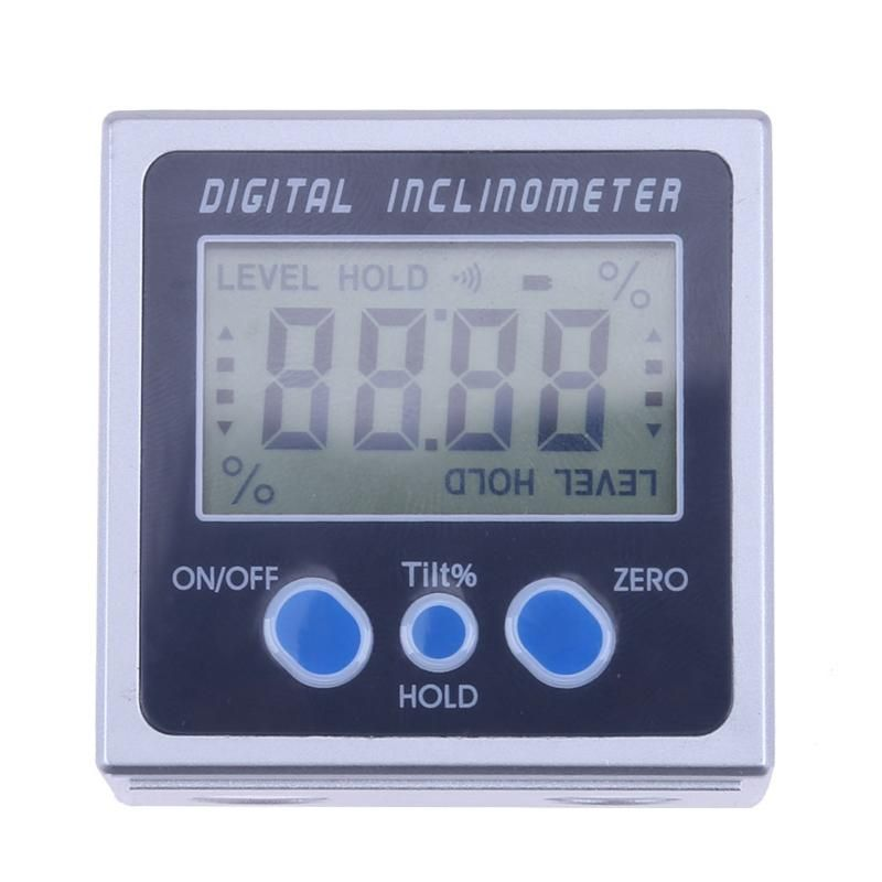 Digital Inclinometer Protractor <font><b>Angle</b></font> Level Box With Three Magnets Base PRO 360 electronic protractor