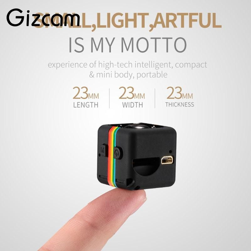 Gizcam Portable 2MP Full HD 1080P <font><b>Night</b></font> Vision Small Mini Camera Micro Cam Video Recorder DV DVR Camcorder not include TF card
