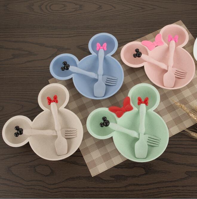 3 шт./компл. Детские Посуда детская тарелка комплект Еда Миски Детские Для детей чаша Кормление набор детей Посуда комплект