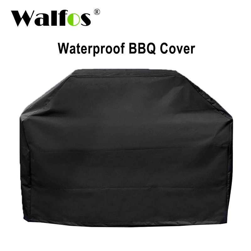 WALFOS Brand Waterproof BBQ Grill Barbeque Cover <font><b>Outdoor</b></font> Rain Grill Barbacoa Anti Dust Protector For Gas Charcoal Electric Barbe