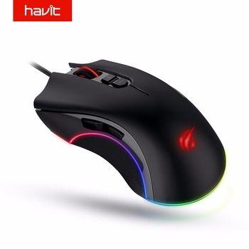 HAVIT игровой Мышь 4000 Точек на дюйм программируемый 7 Пуговицы RGB подсветкой USB Проводная оптическая Мышь геймер для PC ноутбук HV-MS794