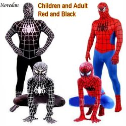 Rouge Noir Spiderman Costume Spider Man Costume Spider-man Costumes Adultes Enfants Enfants Spider-Man Cosplay Vêtements