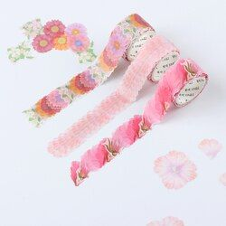 200 PCS/Roll Kelopak Bunga Washi Tape Dekoratif Masking Tape Aroma Sakura Washi Tape Scrapbooking Diary Kertas Stiker