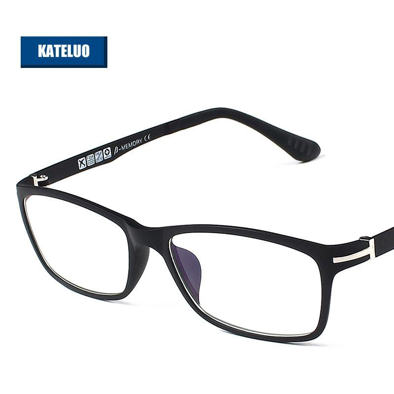 KATELUO ULTEM (PEI)-lunettes d'ordinateur en tungstène Anti-Fatigue lunettes résistantes aux rayonnements cadre lunettes Oculos de grau RE13025