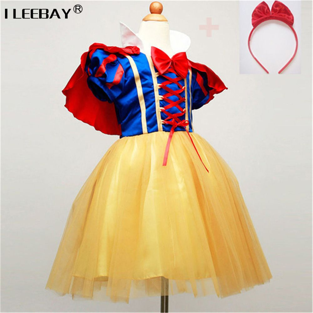 Enfants Cosplay Robe Blanche-Neige Fille Princesse Robe Halloween Costume Party Enfants Vêtements Ensembles Enfants Vêtements Filles Robes