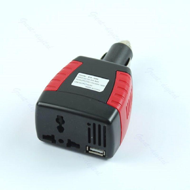 Car 150W Power Inverter Charger NEW Adapter 12V DC To 110/220V AC+USB 5V