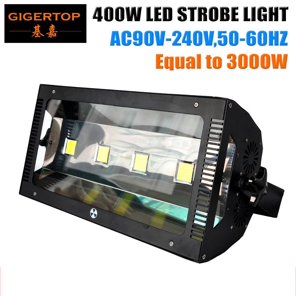 China Stage Light Supplier 400W Professional Martin Led Strobe Light 4*100W White Color Adjustable Speed Brightness Frequency