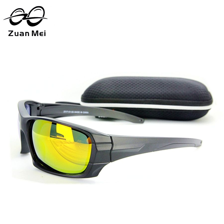 Zuan Mei Hommes de lunettes de Soleil Polarisées Tactique Polarisées Lunettes Armée Tournée Lunettes de Soleil Pour Hommes Desert Storm Guerre Jeu Lunettes
