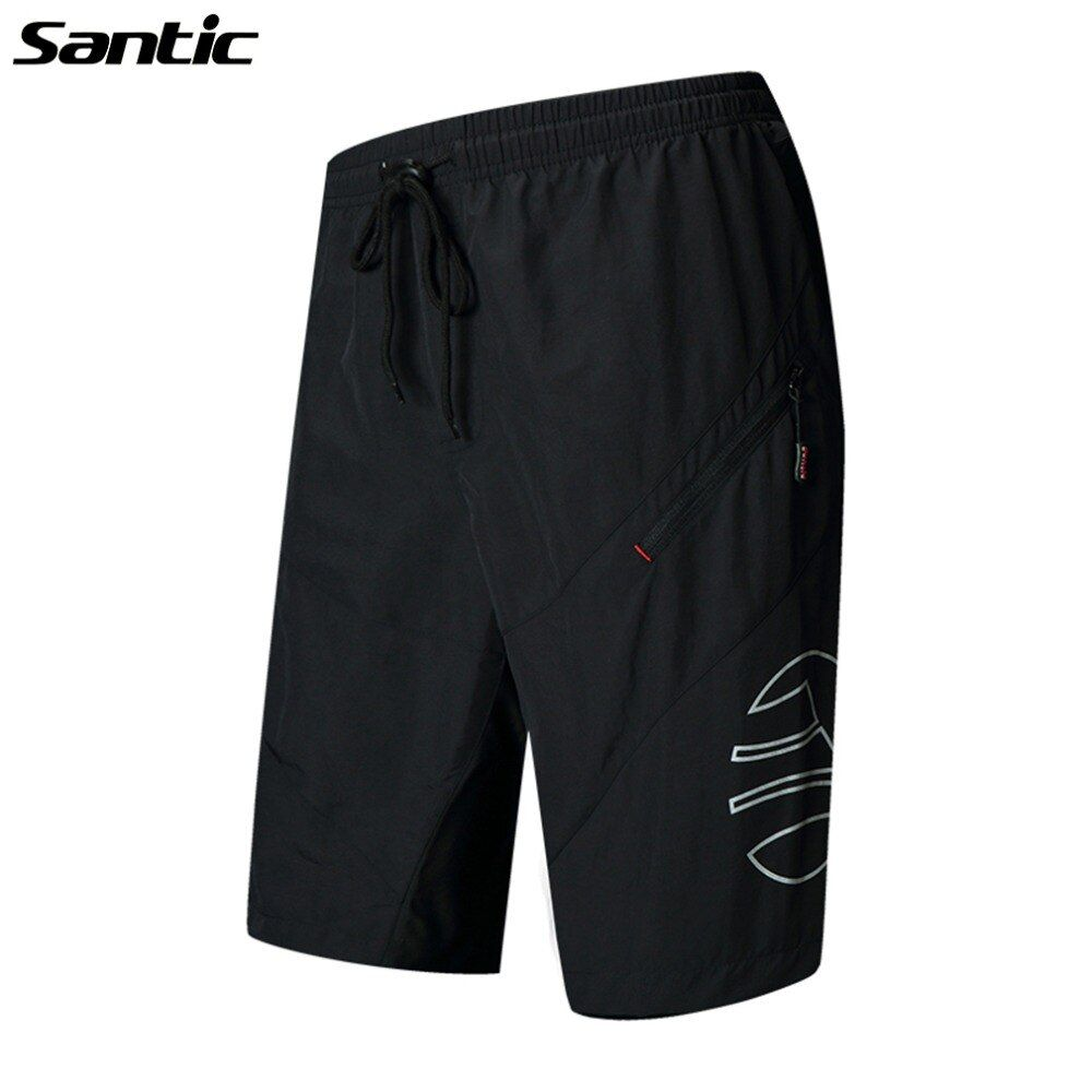SANTIC 1/2 Leisure Cycling Shorts With 3D Padded Bike Bicycle Shorts Sportswear MTB Bike Breathable Shorts Loose Cycling Clothes