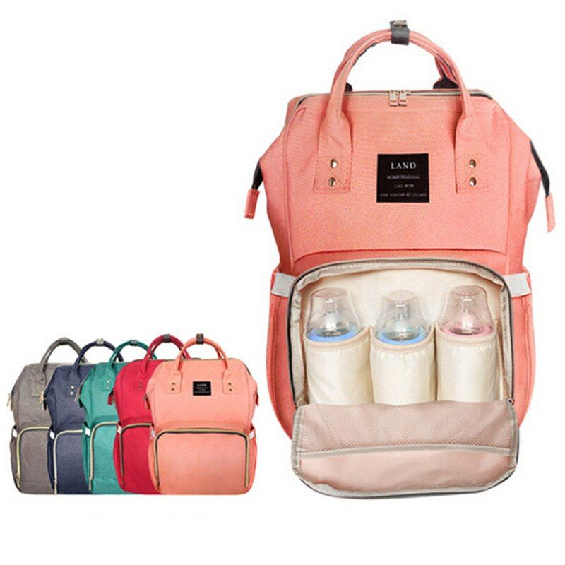 LAND Baby Bag Fashion Nappy Bags Large Diaper Bag Backpack Baby Organizer Maternity Bags For Mother Handbag Baby Nappy Backpack/