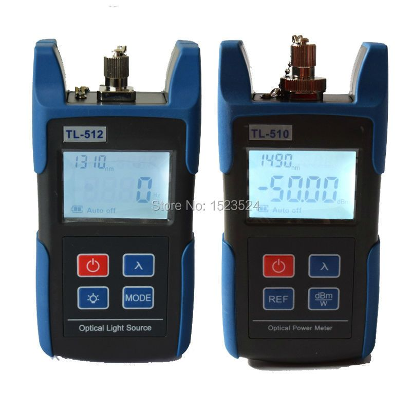 FTTH Optical Multimeter TL510C Optical Power Meter + TL512 1310/1550nm Optical Light Source Red Source