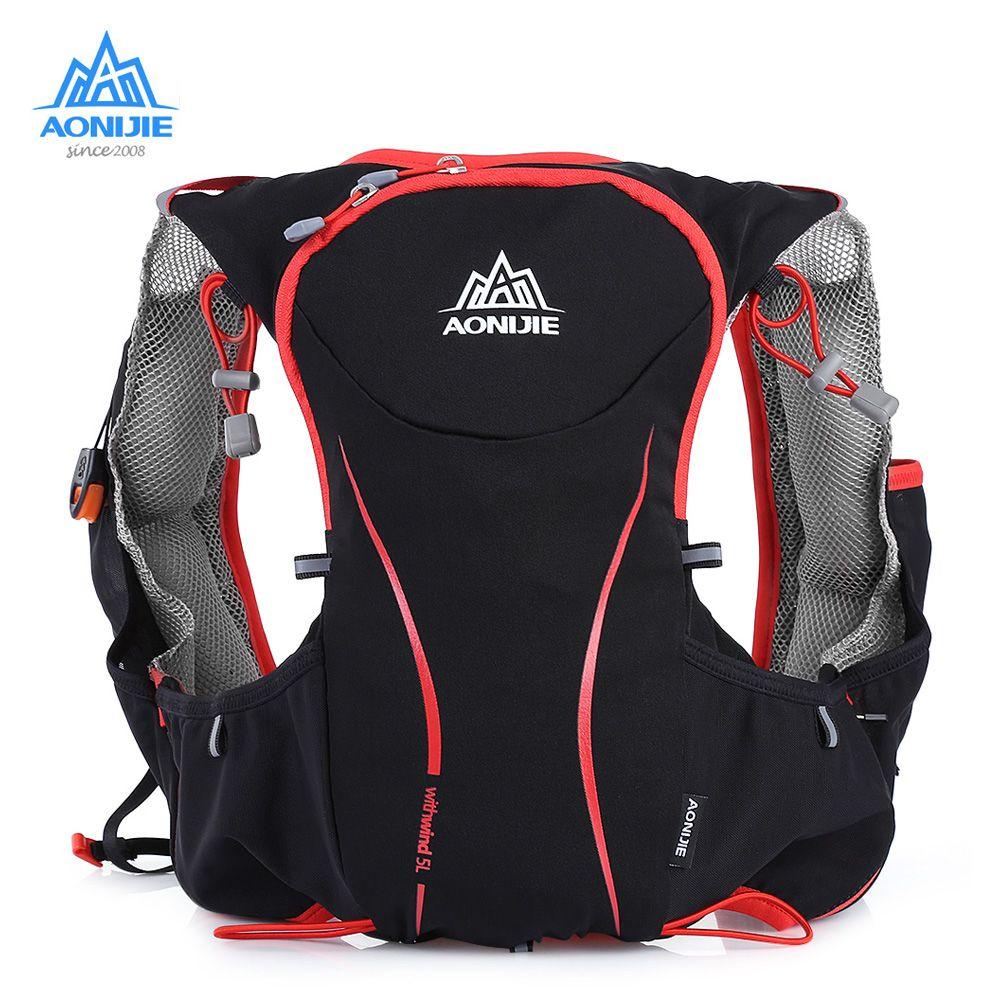 AONIJIE 5L Laufen Rucksack Tasche Trinkrucksack Outdoor-sporttasche Radfahren Weste Ultra-light für Klettern Camping Wandern Laufen