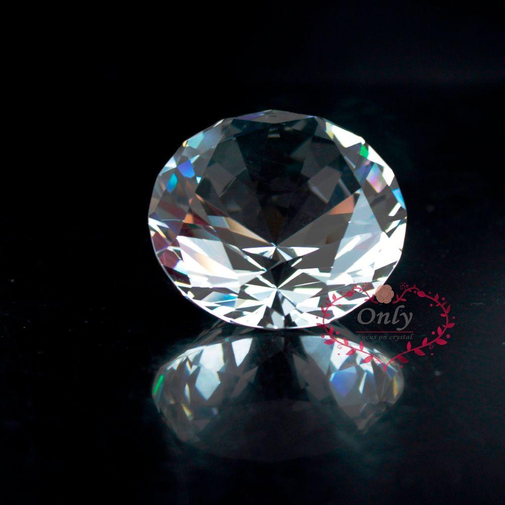Livraison Gratuite Fengshui Style 2 pouce 50mm Nature Cristal De Quartz Clair Diamant Presse-papiers en Pierre Décoration De La Maison Accessoires