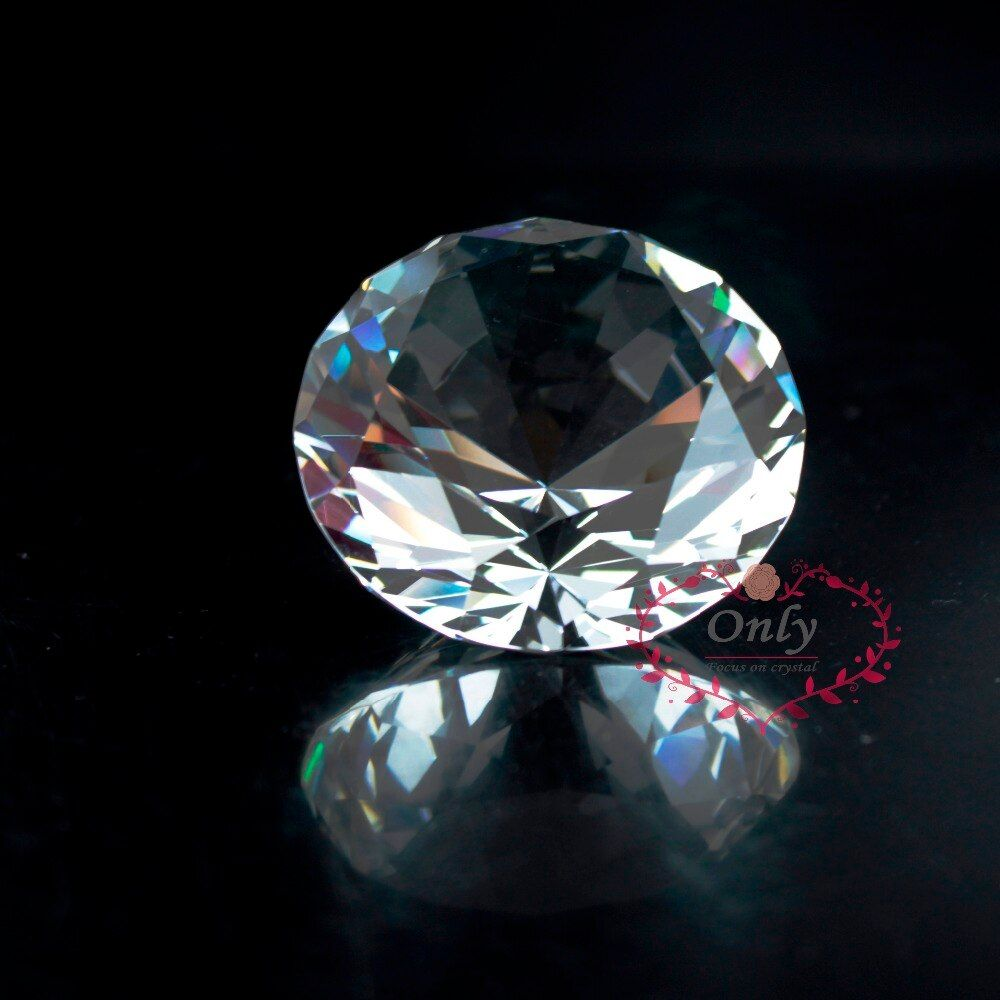 Livraison gratuite Fengshui Style 2 pouces 50mm Nature clair Quartz cristal diamant pierre presse-papier accessoires de décoration de la maison