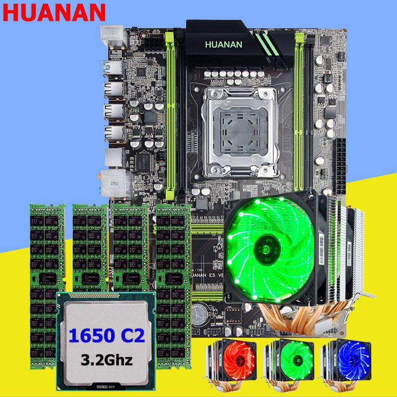 Making perfect computer HUANAN X79 motherboard CPU Xeon E5 1650 C2 3.2GHz with 6 heatpipes cooler memory 16G(4*4G) DDR3 RECC