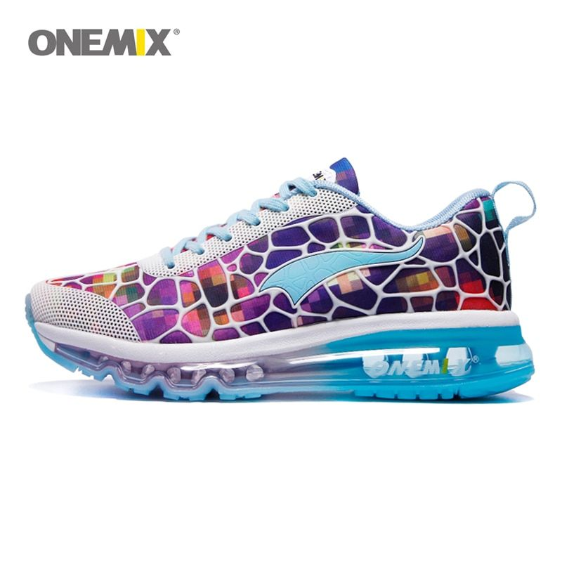 ONEMIX running shoes women's balloon breathable outdoor sports light buffer walking shoes professional sports shoes size 35-40