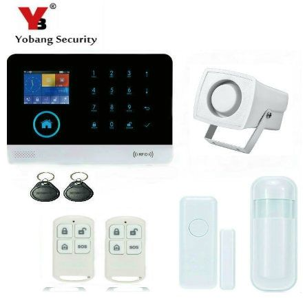 YobangSecurity 3G WIFI RFID Home Security Alarm System With Touch Panel APP Remote Control Alarm Host Russian German Spanish