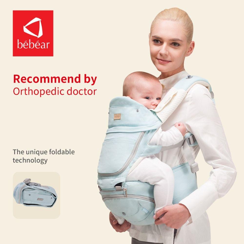 Bebear 0-36 Monate Faltbare Baby Träger Luftfahrt Aluminium Hipseat 6 in 1 Klassische Entwarf Babys Schlinge Hüfte Sitz für Baby