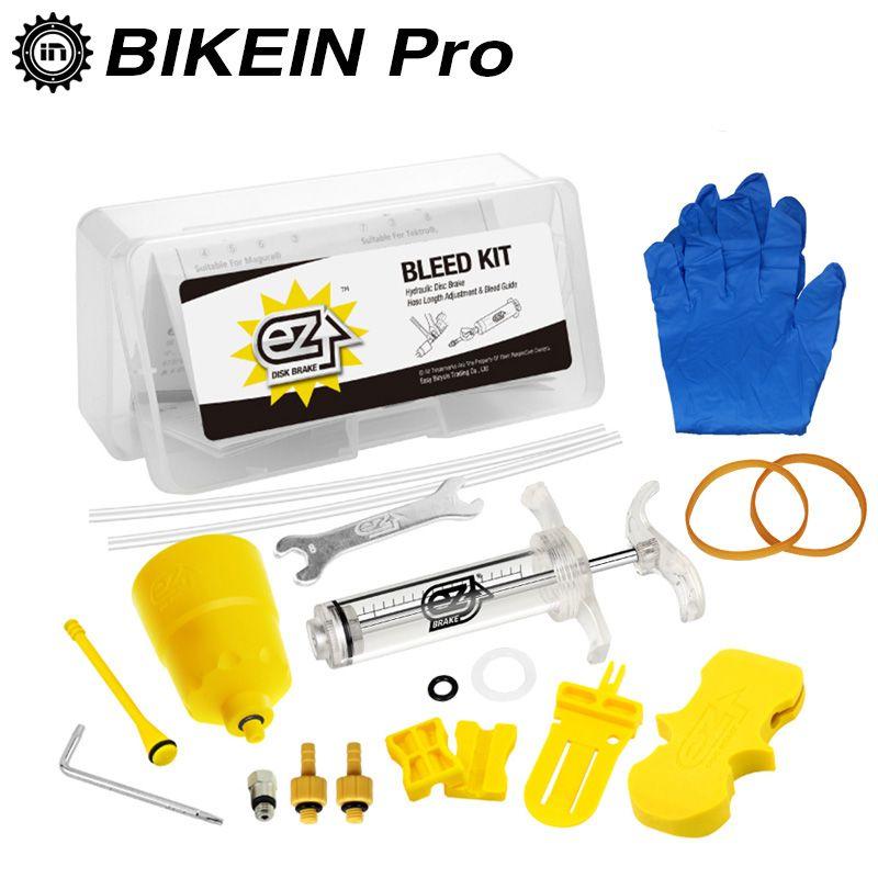 BIKEIN EZ's Bicycle Hydraulic Brake BLEED Tool KIT For Shimano & Magura & TEKTRO MT Series Brake System Use Mineral Oil Brake