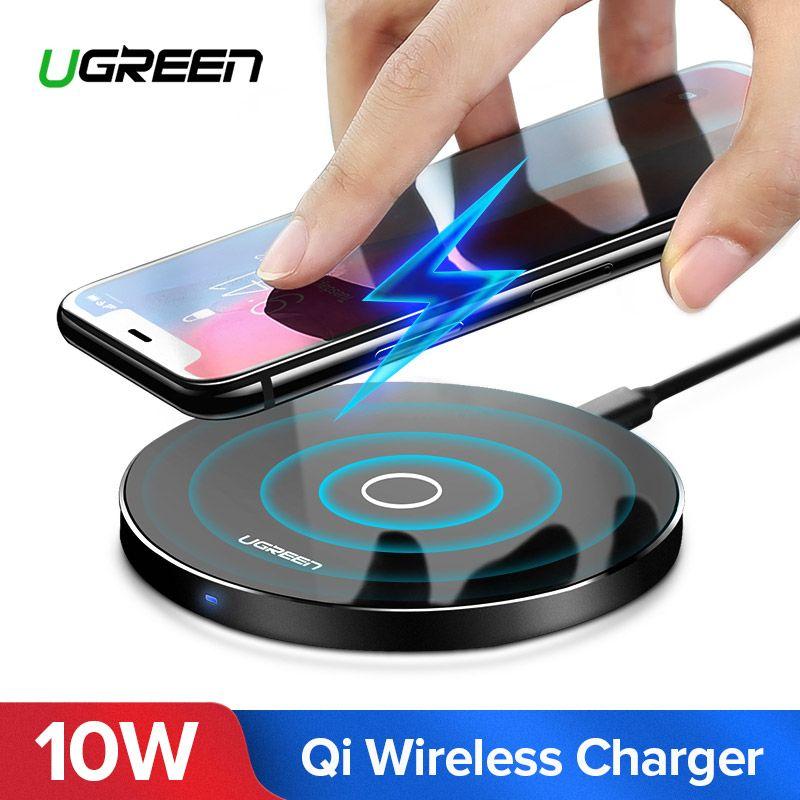 Ugreen Sans Fil Chargeur pour iPhone X 8 XS 10 w USB Sans Fil De Charge pour Samsung Galaxy S8 S9 S7 Bord qi USB Sans Fil Chargeur