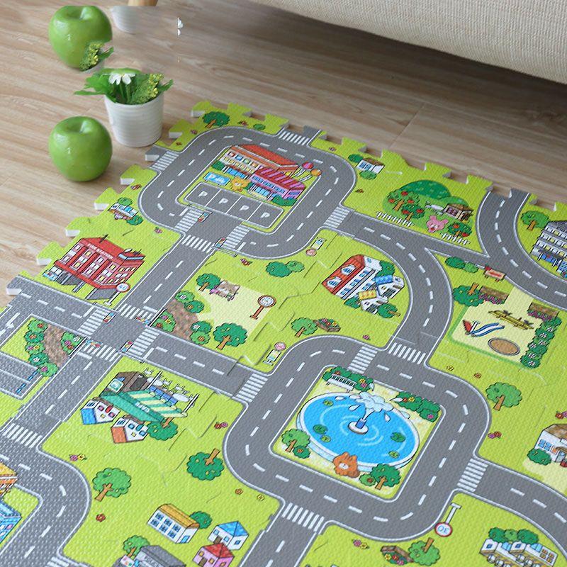 Nouveau! Tapis de jeu de Puzzle de mousse de bébé d'eva de JCC, tapis de tuiles d'exercice de plancher de 9 pièces/ensemble et tapis pour des enfants. Chacun = 30x30 cm. Toutes les zones 90X90 cm