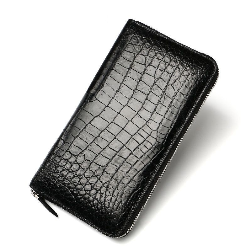 2018 New Coin Purse Embossing Alligator Fashion Crocodile Long Men Clutch Wallets Men's Crocodile Long Clutch Wallet