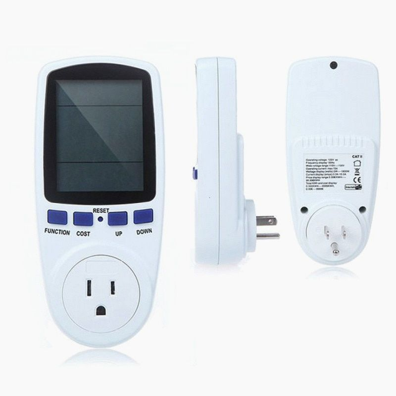 EU/US/UK/AU Digital Voltage Wattmeter Power Analyzer Electronic Power Meter Energy Meter Automatic Kwh Power Switch
