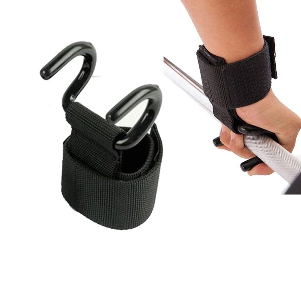 1 PC haltérophilie crochet main barre poignet sangles gant haltérophilie musculation Gym Fitness crochet Support ascenseur poignée ceinture