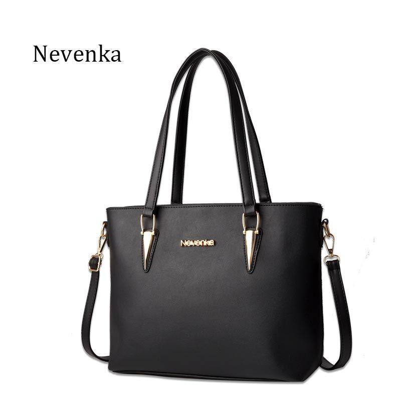 Nevenka Modefrauentasche Solide Messenger Bags Umhängetaschen Weiblichen Reißverschlusstasche Stil Handtaschen PU Leder Berühmte Casual Tote Sac