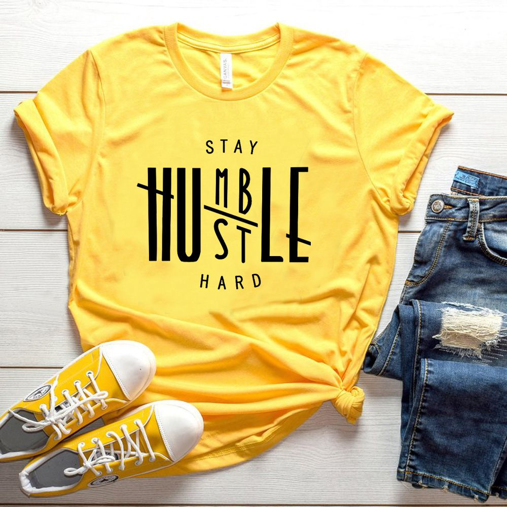Rester Humble tohu dur T-shirt Christian femmes mode drôle grunge tumlbr t-shirts coton cadeau jésus hauts fête T-shirt loisirs T-shirt
