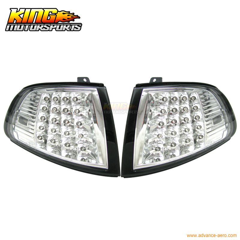 Passt 92-95 Honda Civic 2Dr 3Dr ZB Chrome Clear Led Ecke Lichter Signal Lampe USA Inlands Kostenloser Versand heißer Verkauf