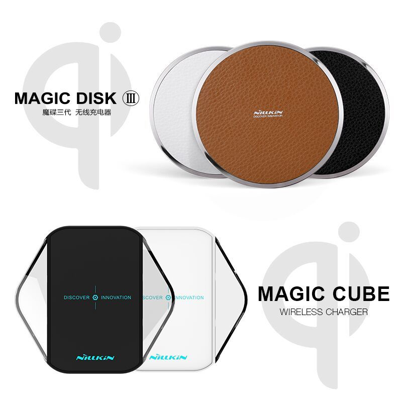 NILLKIN MagicDisk III MagicCube qi wireless charger For samsung note 8 s7 s8 s8 plus for iPhone 8 8+ qi wireless charging Device