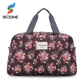 Hot Women Lady Large Capacity Floral Duffel Totes  Sport Bag Multifunction Portable Sports Travel  Luggage Gym Fitness Bag
