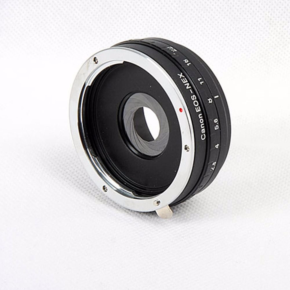 Build in Aperture Lens Adapter Ring for Canon EOS EF Lens for SONY NEX E Mount Adapter NEX-7 NEX-5 -3