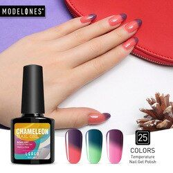 Modelones 10 Ml Suhu Perubahan Warna Termal Gel UV LED Nail Gel Polish Rendam Off Uv Gel Cat Kuku chameleon Varnish
