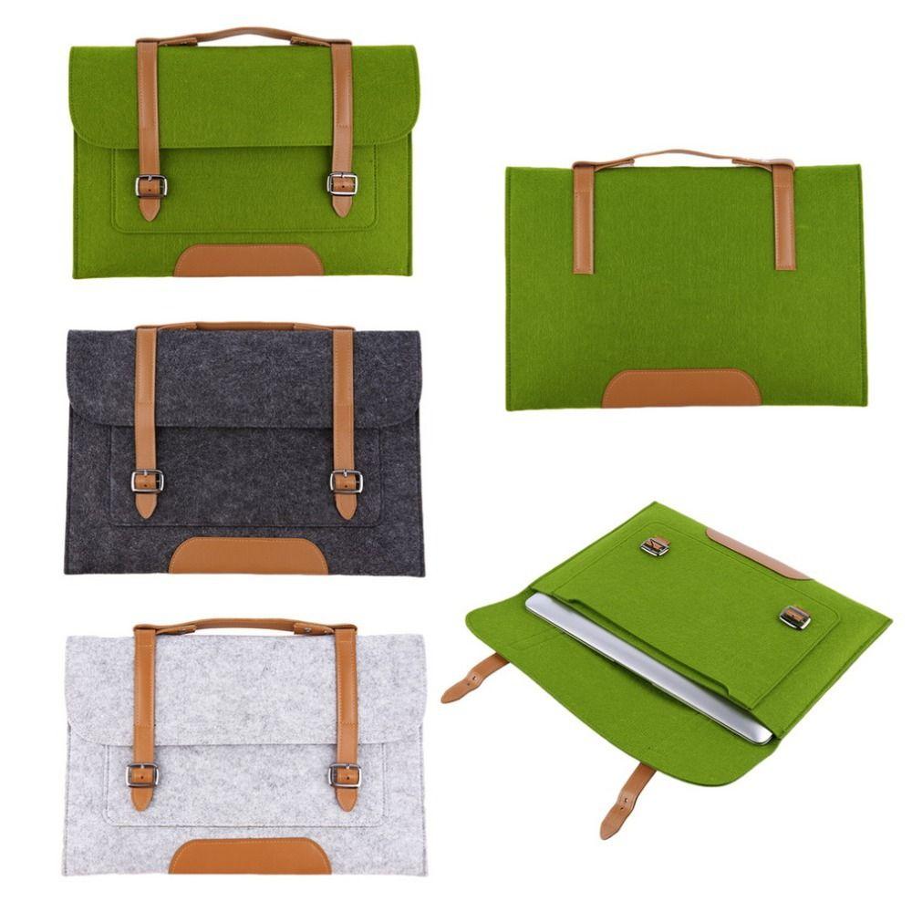 1 stücke 2016 Neue 3 farben Wollfilz Tragen Hülsen-beutel-kasten abdeckung für laptop 13 zoll freies verschiffen Nagelneue Heiße Drop