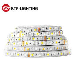 5 M 60LED/M 300 LED SMD 5050 Campuran Warna RGBW RGB + (Hangat/Dingin Putih) rgbww Rgbcw LED Strip 5pin DC12V IP30/IP65/IP67