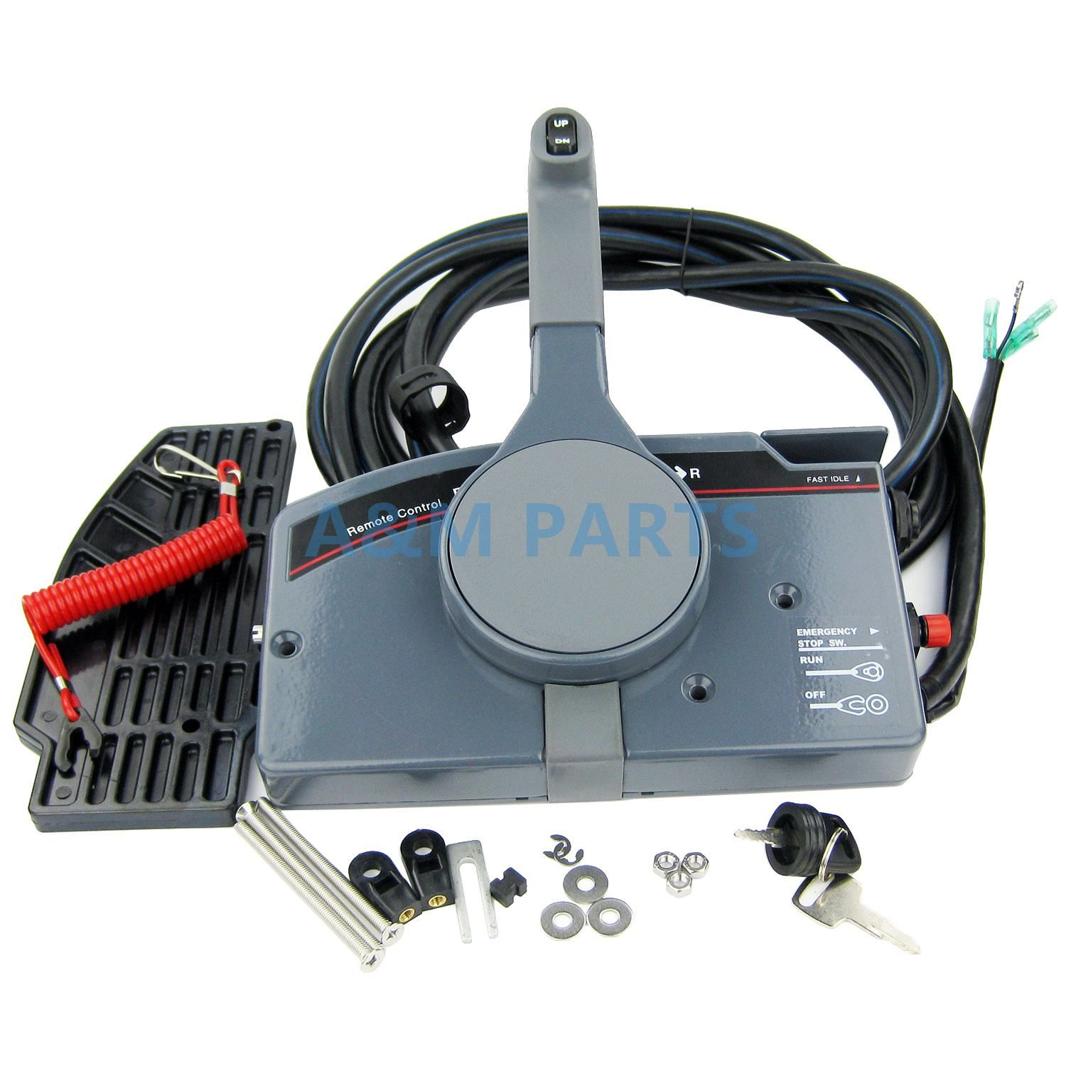 Outboard Remote Control Box for Yamaha Boat Engine Right Side Mount With 10 Pin Cable PULL Throttle