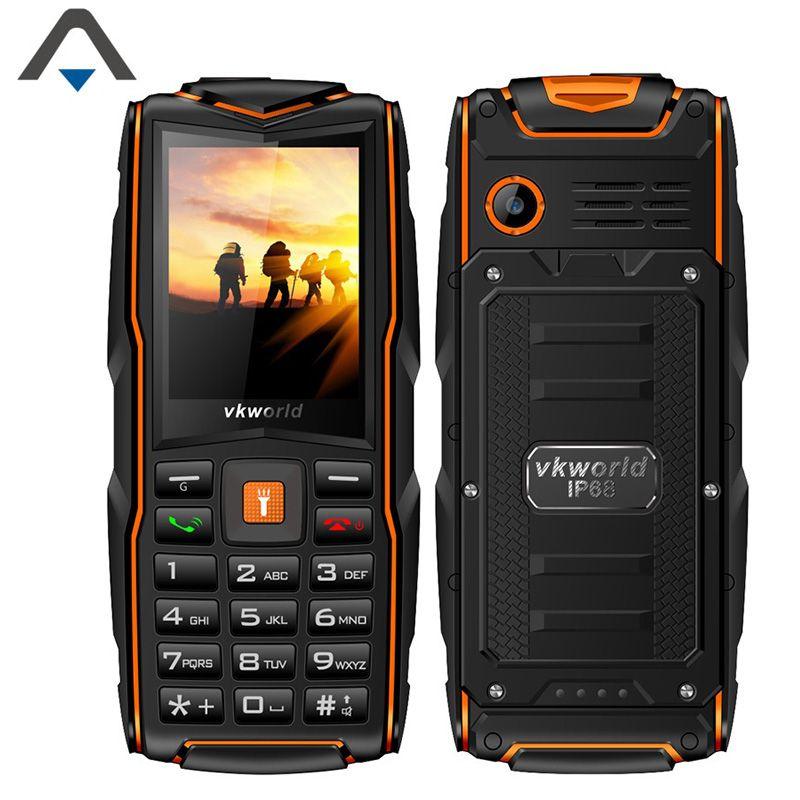 Original Vkworld STONE V3 Bar cell phone 2.45 inch Single Core 64m+64M 3000mAh three SIM cards MTK6531CA mobile phone