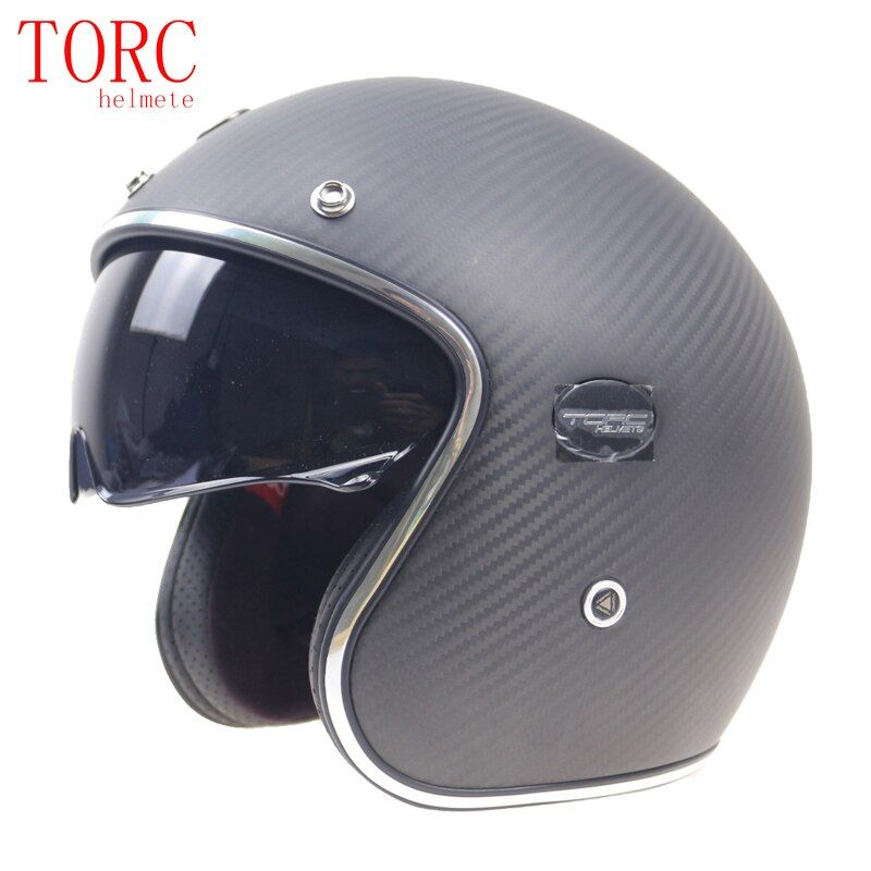 Extra light weight Carbonfiber motor helmet 3/4 open face helmet With Controllable internal sunglasses 950g only