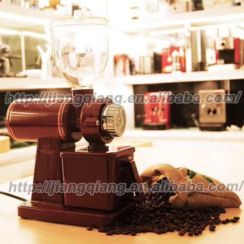 RED , Electric Spice and Coffee Grinder, Supreme Grind Automatic Burr Mill
