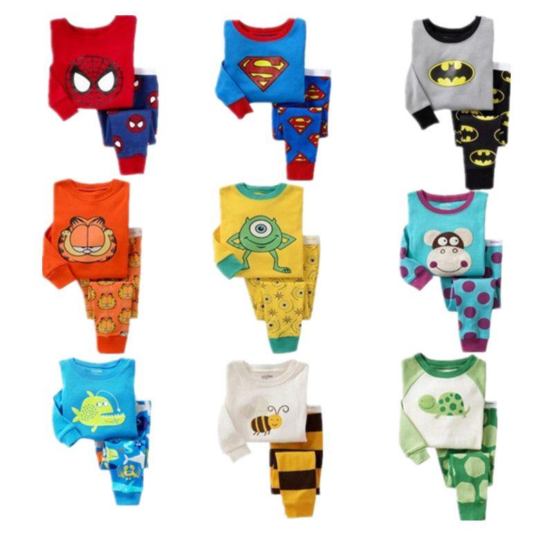 H. Kong детские пижамы для мальчиков с рисунками животных семейная пижама, розничная продажа детская одежда для сна пижамы для малышей