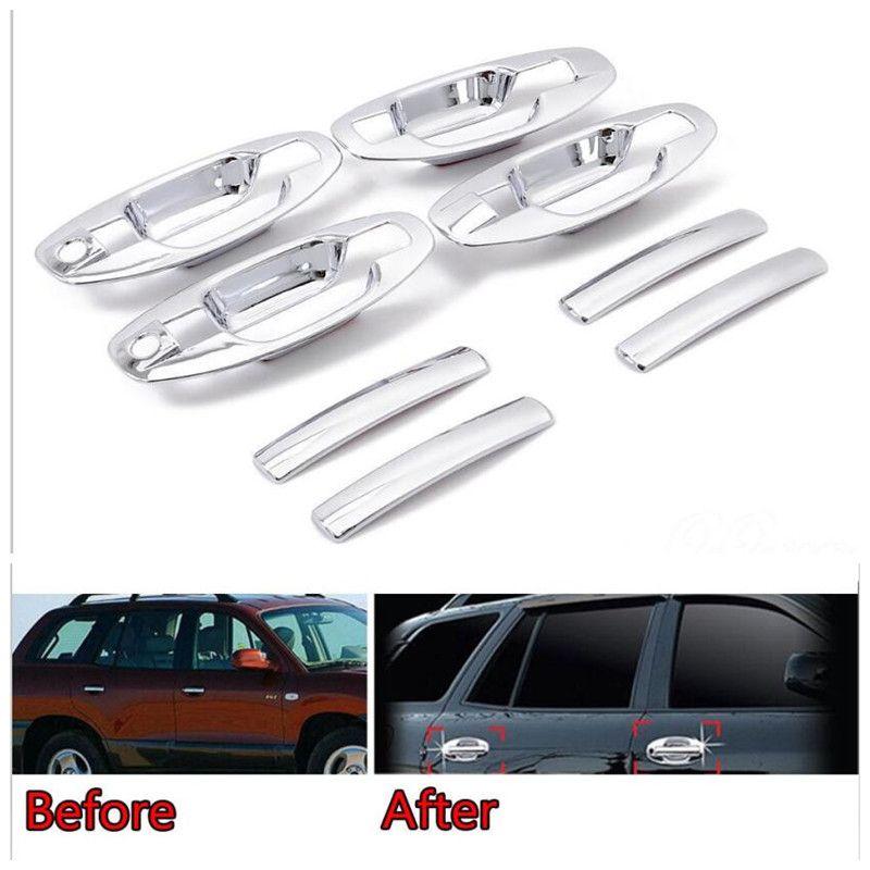 Für Hyundai Santa Fe Auto-Styling Tür Griff Bar Schüssel Abdeckung Trim Chrome ABS Aufkleber Dekoration Auto Abdeckungen Zubehör 2001-2006