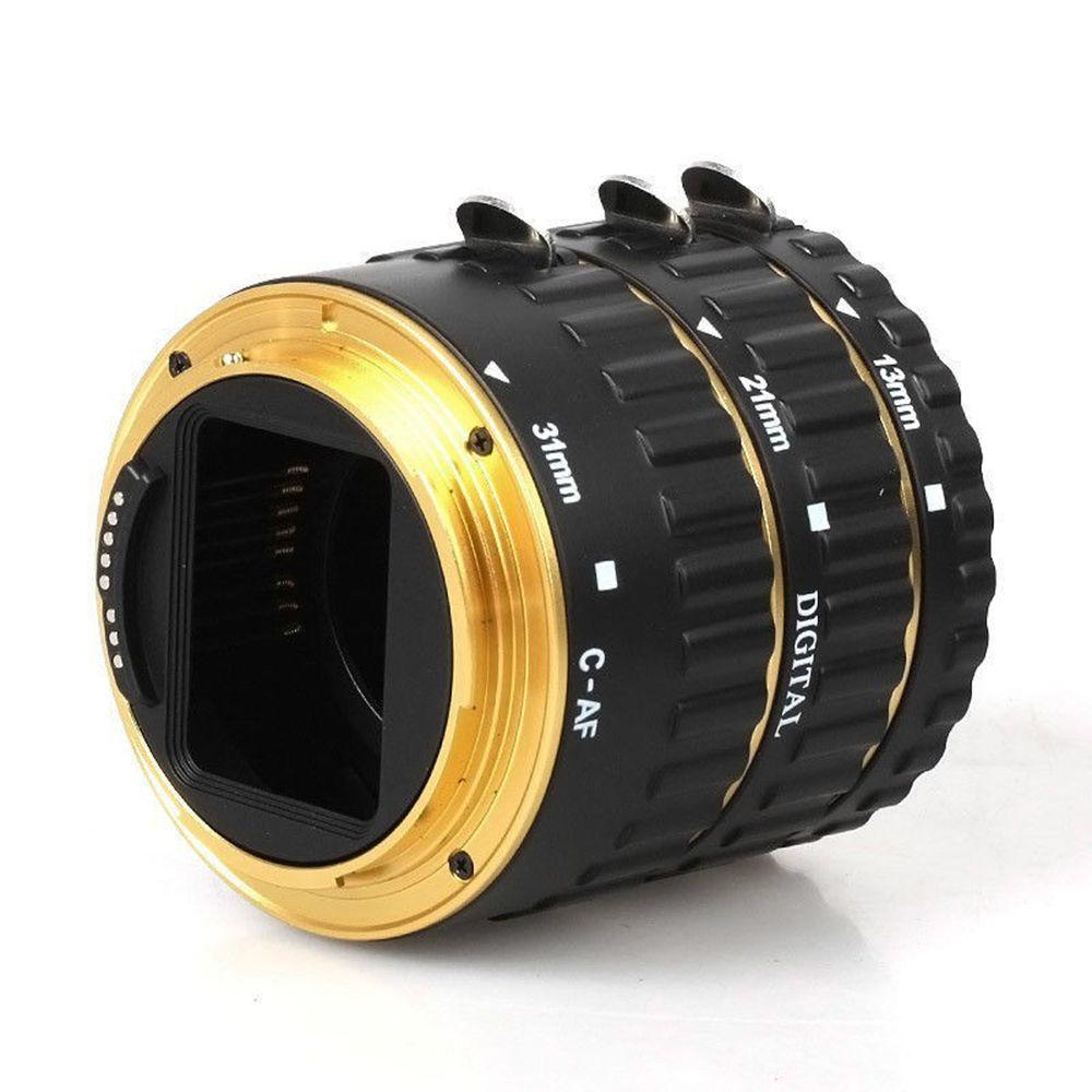Bague Tube d'extension AF à mise au point automatique en métal doré pour objectif Kenko Canon EOS 1100D 700D 650D, 600D 550D 350D