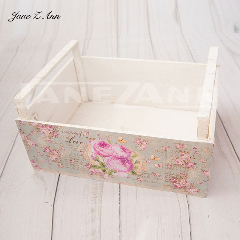 Jane Z Ann Newborn photos props infant photography auxiliary frame baby photo-assisted shooting table drawer basket 40x30x15cm