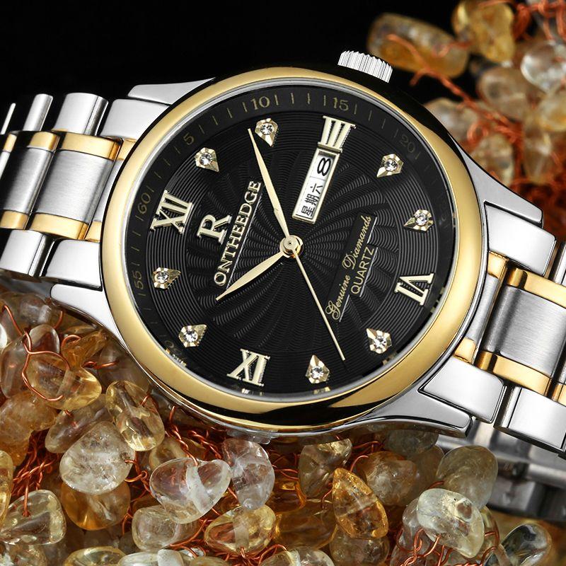 Montres hommes RONTHEEDGE Top marque de luxe hommes montres en acier complet montre à Quartz analogique étanche sport armée militaire montre-bracelet