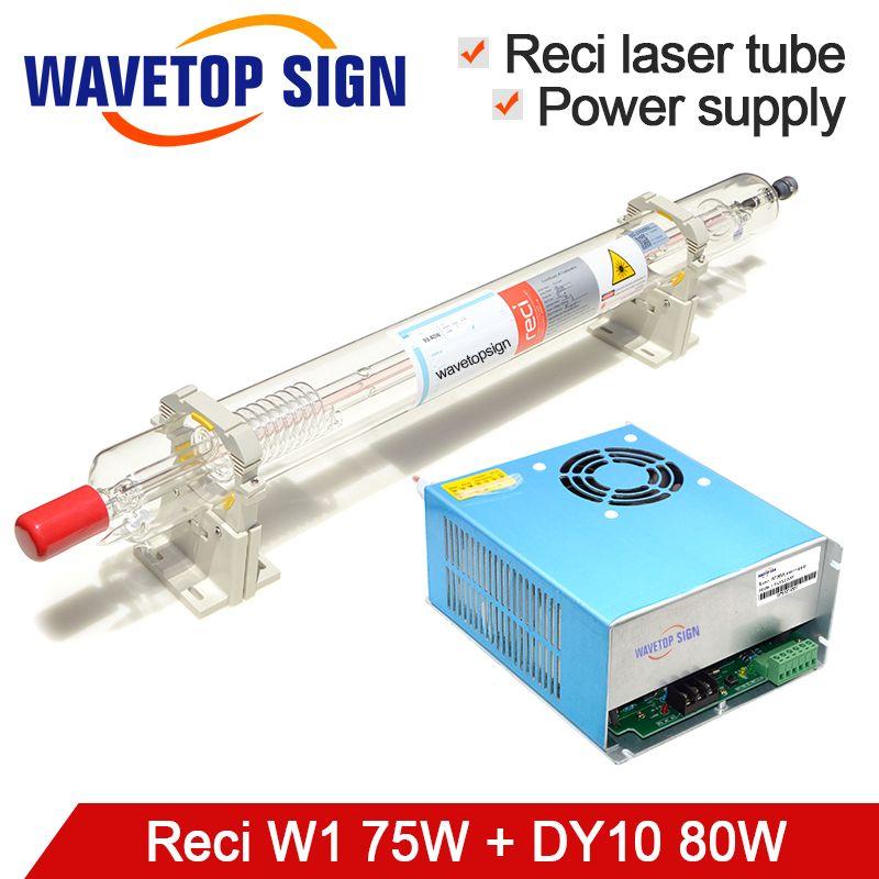 RECI Laser Röhre W1 75 W + Laser Netzteil DY10 CO2 Laser Röhre 80 W länge 1050mm Dia.80mm verwenden für CO2 Laser Mark Maschine