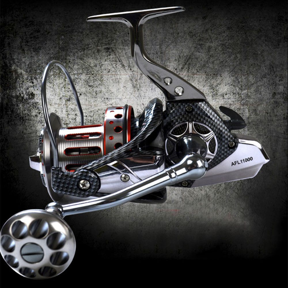 AFL8000-12000 Series Full Metal Body Spinning Reels Big Trolling Reel Surf Reel Fishing Reel 4.7:1 10+1 BB
