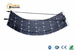 BOGUANG 100W flexible solar panel 12V solar efficient quality cell smooth module system RV car marine boat battery charger
